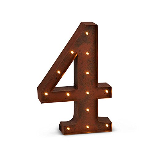 The Gerson Company LED Lighted Numeral ''4