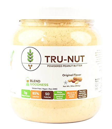 (Tru-Nut Powdered Peanut Butter (71 Servings, 30 oz Jar) Good Source of Plant Protein - Gluten Free, Vegan, Non-GMO - Original Flavor )