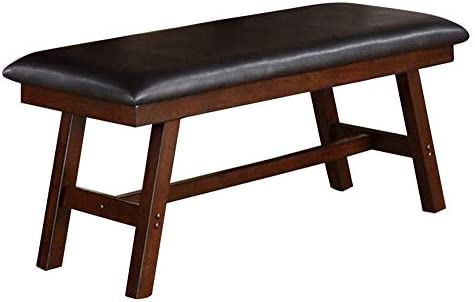 Benjara Rubber Wood Bench