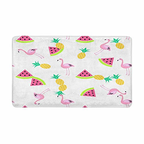 - InterestPrint Watermelon, Flamingo and Pineapples Anti-slip Door Mat Home Decor, Personalized Indoor Entrance Doormat Rubber Backing Extra Large 30 X 18 Inches