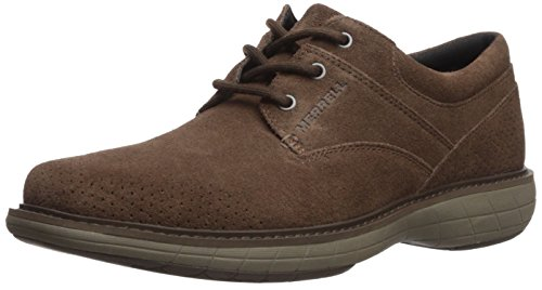 Merrell Dress Shoes - Merrell Men's World Vue Lace Suede Sneaker, Dark Earth, 11 Medium US