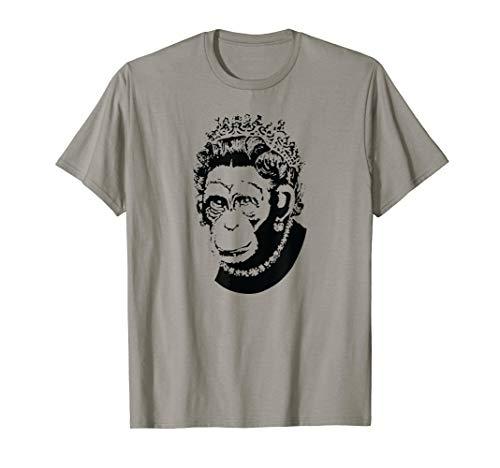 (Royal Queen Chimpanzee Monkey Monarchy T-Shirt)