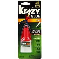 Krazy Glue KG38548R Instant Crazy Glue Craft Formula Precision Tip 0.18-Ounce by Krazy Glue