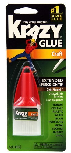 krazy-glue-kg38548r-instant-crazy-glue-craft-formula-precision-tip-018-ounce-by-krazy-glue