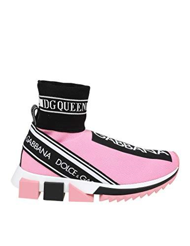 Dolce e Gabbana Women's Ck1645az7088t570 Pink Polyester Slip On Sneakers