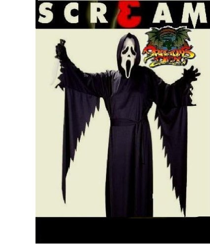 Scream máscara y capa de Halloween completo disfraz Outfit