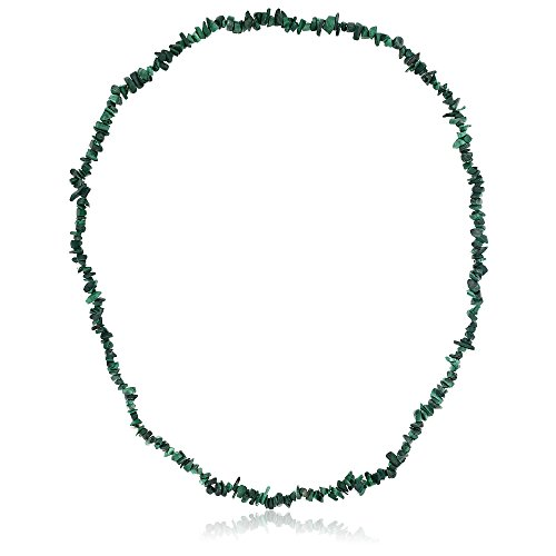 (Gem Stone King 447.00 Carat Green Malachite Crystal Chip Necklace 32 Inch )