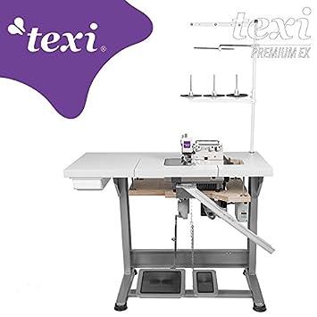 TEXI de la Industria - Máquina de Coser overlock - Roll Dobladillo - 1 Aguja/3 Hilos - Completo (con Mesa y Estructura): Amazon.es: Juguetes y juegos