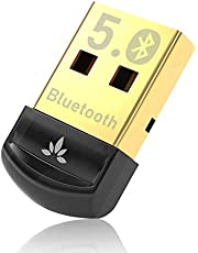 Avantree DG45 Bluetooth 5.0 USB Dongle, Bluetooth Adapter for PC Computer Desktop Laptop, Wireless Transfer for Bluetooth Headphones Speakers Keyboard Mouse Printers Music & Calls, Windows 10/8.1/8