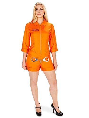 Orange Prisoner Jumpsuit Adult Costume M - Orange Prisoner Costume Womens