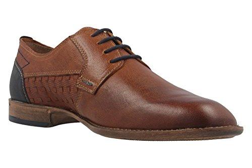 FRETZ men Zapatos de Cordones de Piel Para Hombre Marrón Marrón