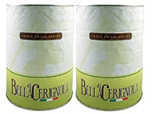 Amazon.com : Fratepietro Black Cerignola Olives (Food Service Size