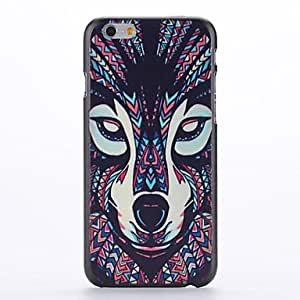 JOE Coloured Drawing Wolf Embossment Pattern PC Hard Case for iPhone 6