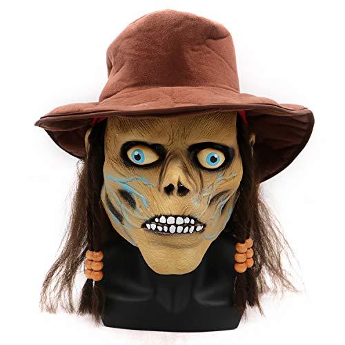 LBAFS Halloween Mask Adult Grimace Pirate Horror Zombie Mask Headgear Props ()