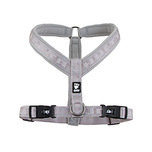 (Hurtta Casual Padded Dog Y-Harness, Ash, 32)