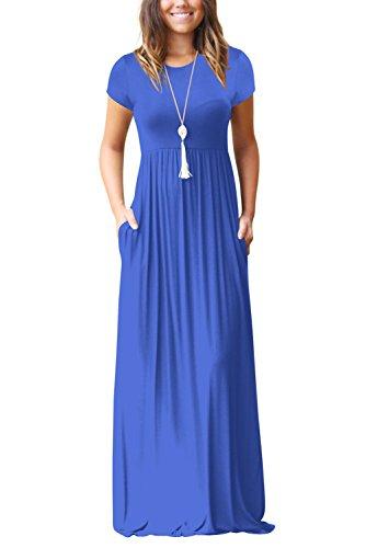 Rotondo Manica S XXL Camicia Corta blu Lunghi Donna S Abiti Abito Scollo Vestito Vestitini Dasbayla zwZtU1xR