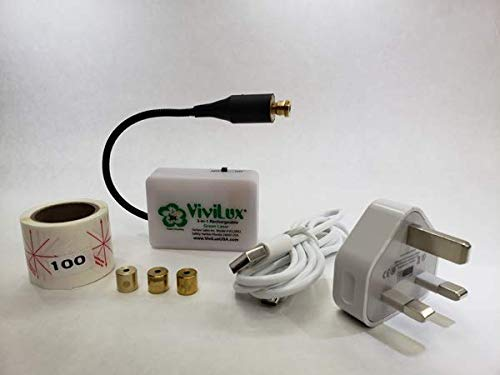 - ViviLux 3-in-1Green Laser System - 3 Lasers in 1 with Rechargeable Battery for Sewing, Quilting and Crafting UK Plug <5mW
