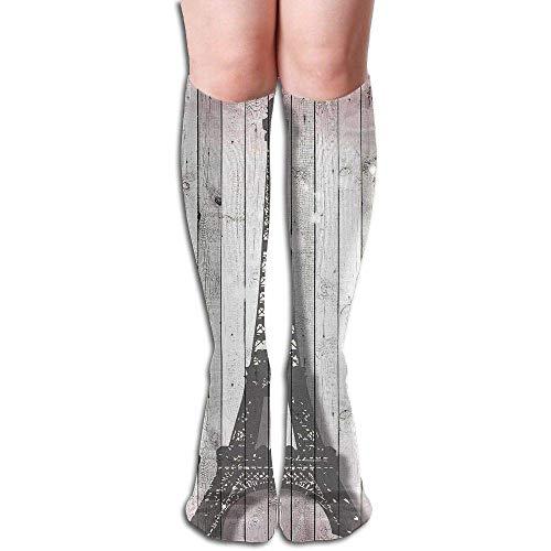 Tube High Knee Sock Boots Crew Eiffel Tower Stella Compression Socks Long Sport Stockings 19.7in (50cm)