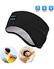 Sleep Headphones Bluetooth - Navly Bluetooth V5.0 Sports Headband Headphones with Ultra-Thin HD Stereo Speakers,Perfect for Sports, Side Sleepers, Air Travel, Meditation and Relaxation