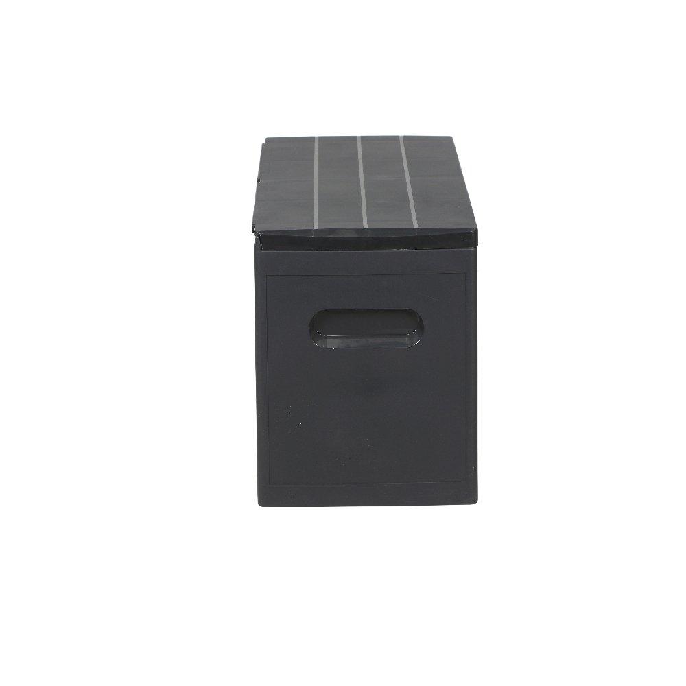 H.G.NN 12003226 Coffre /à coussins Noir 117 x 45.2 x 57.7 cm