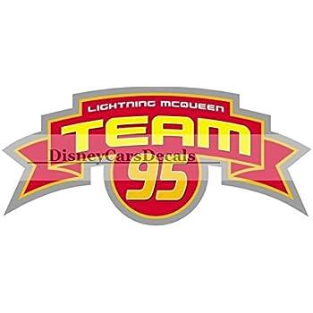 6 inch team lightning mcqueen 95 flag disney pixar cars 2 movie removable wall decal sticker