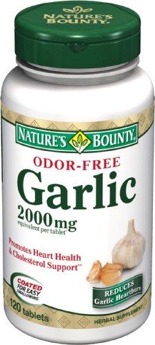 L'ail générosité de la nature, 2000mg, sans odeur, 120 comprimés (lot de 4)