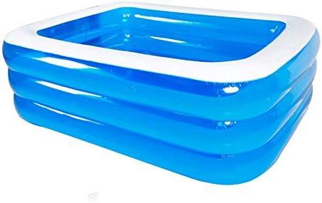 子供用プール- 大型プール | 耐摩耗性環境保護PVC素材/青と白 4層エアバッグ (Size : 318×180 × 75cm)