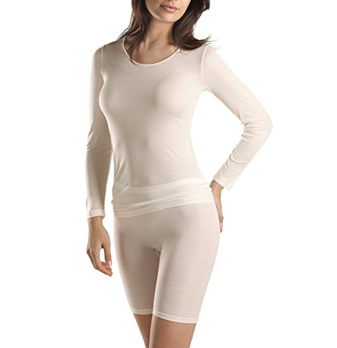 Hanro 071719, Camiseta Pure Silk, Talla S, Color Pale Cream