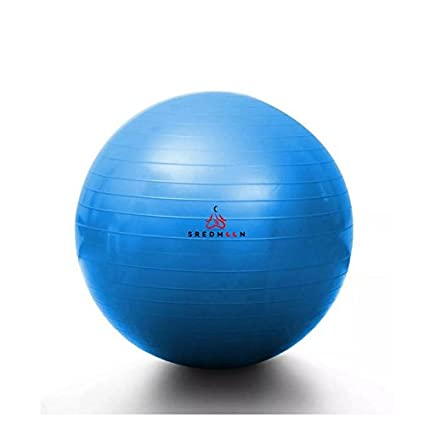 Yoga Ball Fitness Training and Physical Therapy Best Stability Ball for Full Body Workout, CrossFit, Yoga, Pilates - Sredmoon Products (blue)
