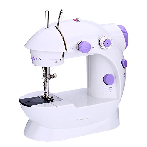 Anself Mini Electric Sewing Machine 2 Speed Adjustment with Light Foot Pedal
