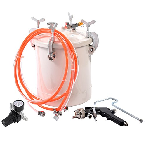 Sata System Cartridge (High Pressure Pot Air Paint Spray Gun 2 1/2 Gallon Industrial Painting Painter US Ship)