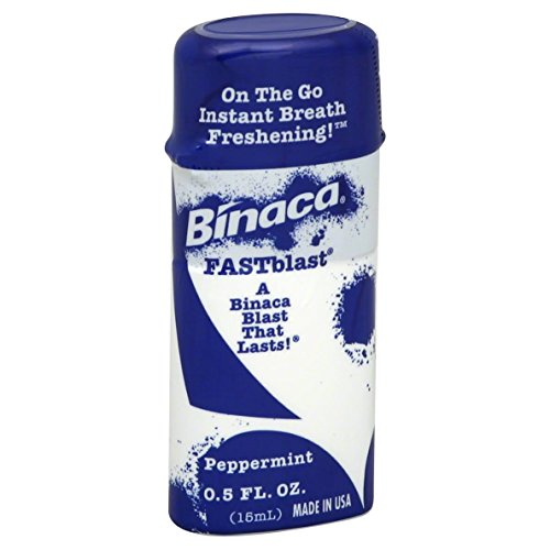 Binaca Fast Blast (Binaca Fastblast Breath Spray Peppermint 0.50 Oz (Pack of 12))
