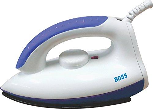Boss Kress B312 1000 Watt Dry Iron  White and Blue