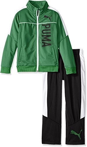 PUMA Little Boys' Toddler 2 Piece Zip up Track Jacket and Pant Set, Astro Turf, 2T (Boys Track Jacket)