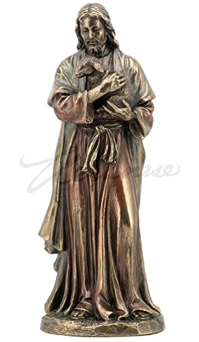 Jesus Holding Baby Lamb Statue Figurine