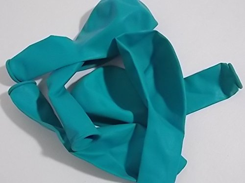 Latex Party Balloons - Choose Your Colors and Styles (10, Aqua / Teal/ Turquoise)