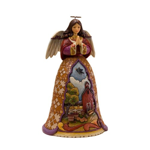 Jim Shore Heartwood Creek from Enesco Autumn Angel with Dangles Figurine