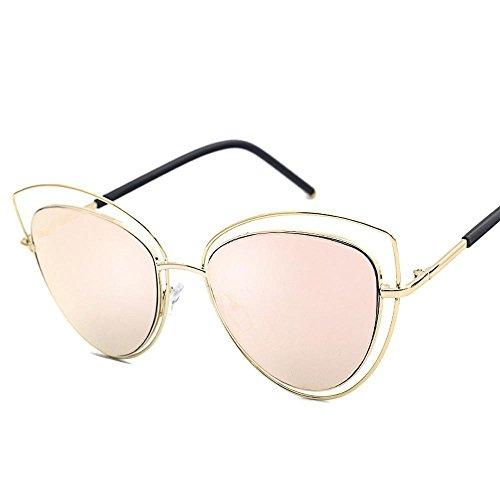 Aoligei Lunettes de soleil œil de chat, les hommes et les femmes, lunettes de soleil à la mode metal lunettes de soleil mode