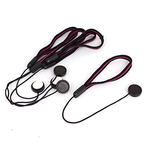 Lens Cover Lanyard - TOOGOO(R) Lens Cover Cap Keeper Camera Strap Lanyard String Rope Black Red 5Pcs