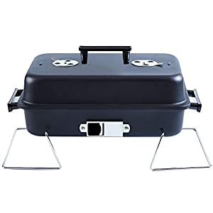 Portable Charcoal Grill with Lid Folding Tabletop BBQ Grill Barbecue Brill for Outdoor Cooking Camping Picnic Patio Backyard Cooking
