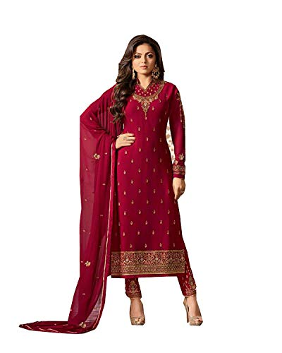 Salwar Kameez Red - Indian/Pakistani Fashion Salwar Kameez for Women (Red, X-SMALL-36)