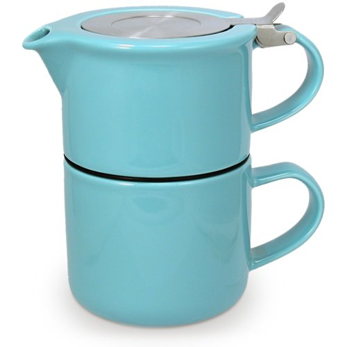 FORLIFE Tea for One with Infuser 14 ounces, Turquoise