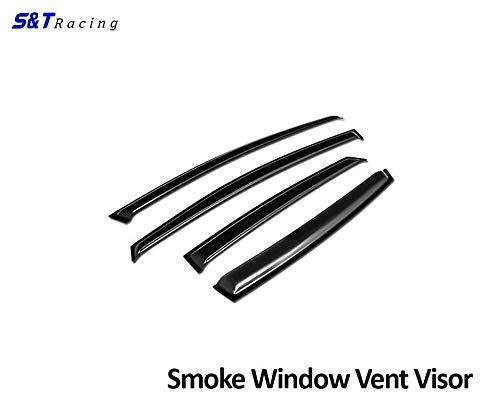 (S&T Racing Sun/Rain Guard Smoke Vent Shade Deflector Window Visors 12-17 Ford Focus 4D/4Dr)