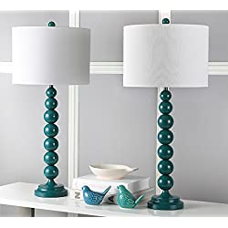 Safavieh Lighting Collection Jenna Dark Emerald Green Stacked Ball 31-inch Table Lamp (Set of 2)