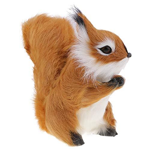 SM SunniMix Simulation Plush Animals Figures Squirrel Miniature Model Home Decors Gifts by SM SunniMix