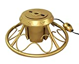 CMI Heavy Duty Fancy Gold Metal Rotating Artificial Christmas Tree Stand
