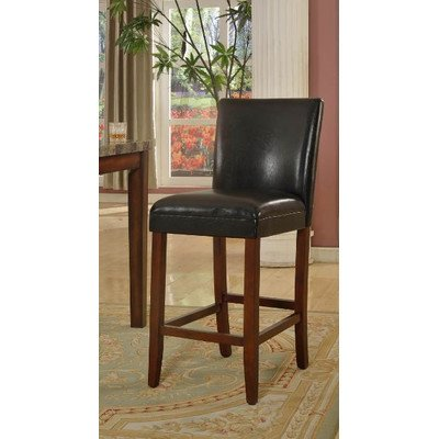 Faux Leather Barstool in Black Seat Height: (Black Microfiber Suede Bar Stool)
