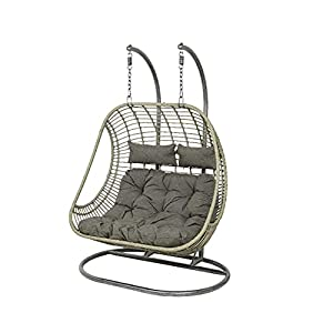 Dawsons Living Vienna Cocoon Hanging Double Egg Chair