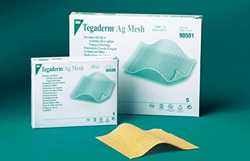 3M Mesh Dressing Tegaderm Ag Silver Sulfate 2 X 2