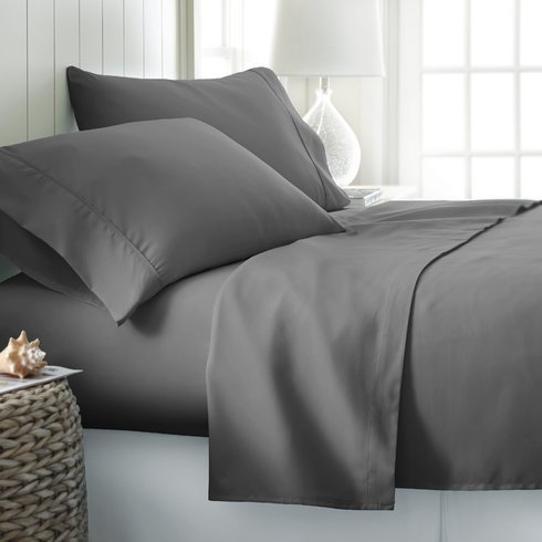 Jose Farmer Bedding Hotel Quality 1200 Thread Count 100% Egyptian Cotton Ultra Soft 4 Piece Bed Sheet Set Fitt Up To 15'' Deep Pocket 1200TC (Elephant Grey, California-king) by JF Bedding
